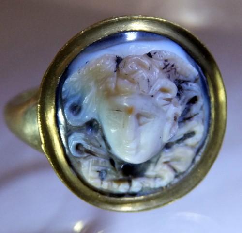 Roman Medusa Cameo Ring