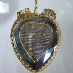 Rock Crystal and Gold heart