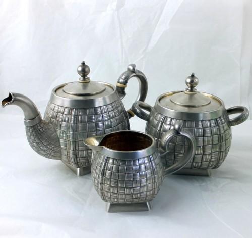 Russian silver teaset