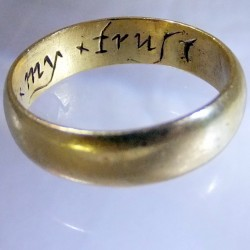 Early Gold Posy Ring