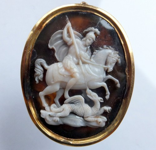 St George and the dragon cameo