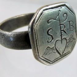 Seventeenth century silver ring