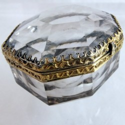 1600 rock crystal and silver box