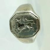 Seventeenth century armorial silver ring