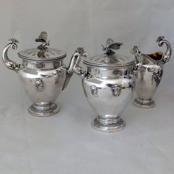 Napoleonic Paris silver teaset