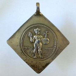 Silver gilt pilgrim medal