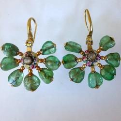 Seventeenth century Ottoman emerald earrings