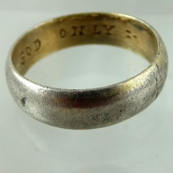 Silver posy ring