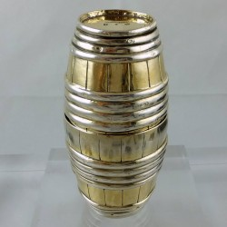 Eighteenth century silver gilt drinking cup