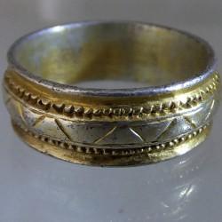 Medieval silver gilt ring