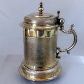 1650 fire gilt silver tankard