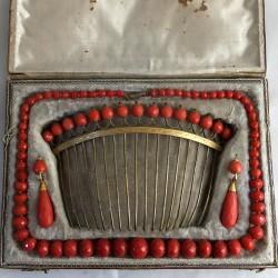 Eighteenth century coral set