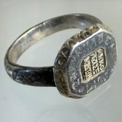 Byzantine nielloed silver ring