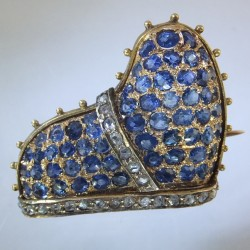 Doge of Venice's hat brooch with sapphires