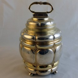 Partially gilt silver spice canister
