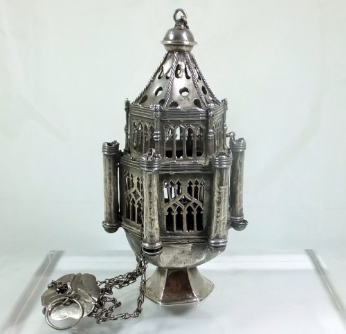 Fifteenth century silver thurible